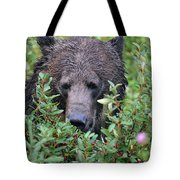 Grizzly In The Berry Bushes Tote Bag