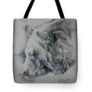 Grizzly Sketch Tote Bag
