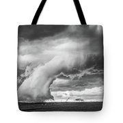 Groom Storm Bw Tote Bag by Scott Cordell