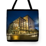 Groovy Modern Architecture One Wintry Night Tote Bag