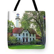 Grosse Point Light Station Tote Bag