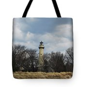 Grosse Point Lighthouse Portrait Tote Bag