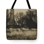 Grosse Point Lighthouse Sepia Tote Bag