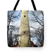Grosse Point Lighthouse Winter Tote Bag