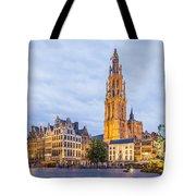 Grote Markt Square In Antwerp Tote Bag