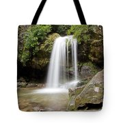 Grotto Falls Great Smoky Mountains Tote Bag by Jemmy Archer