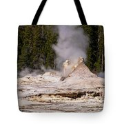 Grotto Geyser Eruption Two Tote Bag