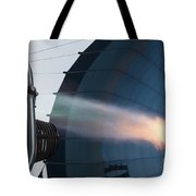 Ground Crew Preparing A Hot Air Balloon Before Takeoff Tote Bag