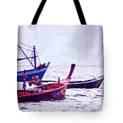 Group Of Fishing Boats Tote Bag