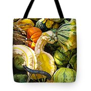 Group Of Gourds Expressionist Effect Tote Bag