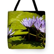 Group Of Lavender Lillies Tote Bag