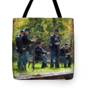 Group Of Union Soldiers Tote Bag