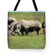 Group Of White Rhino Tote Bag