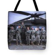 Group Photo Of Uh-60 Black Hawk Pilots Tote Bag