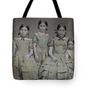 Group Portrait Of Five Sisters Tote Bag
