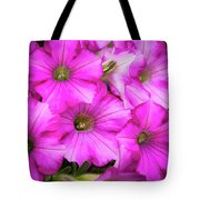 Grouping Of Petunias Tote Bag