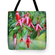 Growing In Red And Purple Tote Bag