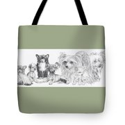 Growing Up Chinese Crested And Powderpuff Tote Bag by Barbara Keith