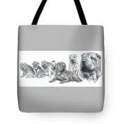 Growing Up Chinese Shar-pei Tote Bag by Barbara Keith