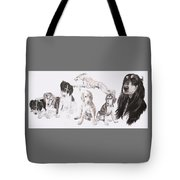Growing Up Saluki Tote Bag