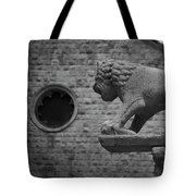 Growling At The Threat Tote Bag