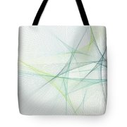 Growth Computer Graphic Line Pattern Tote Bag
