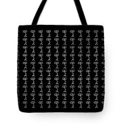 Grumpy Face Black Pattern Tote Bag