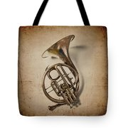 Grunge French Horn Tote Bag