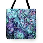 Grunge Sea Coral Abstract Tote Bag