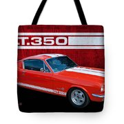 Red Gt 350 Mustang Tote Bag