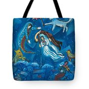 Guadalupe Visits Chagall Tote Bag