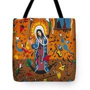Guadalupe Visits Miro Tote Bag
