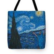 Guadalupe Visits Van Gogh Tote Bag