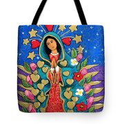 Guadalupe With Stars Tote Bag