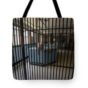 Guard Desk Inside Prison Cellblock Tote Bag