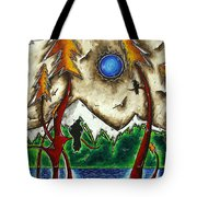Guardians Of The Wild Original Madart Painting Tote Bag