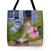 Guarding The Hen House Tote Bag