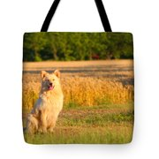 Guarding The Wheat Tote Bag