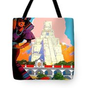 Guatemala City, Woman In Traditional Costume With Vase On Her Head Tote Bag