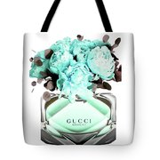 Gucci Blue Perfume Tote Bag