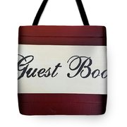 Guest Book  Tote Bag