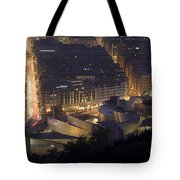 Guggenheim At Night II Tote Bag