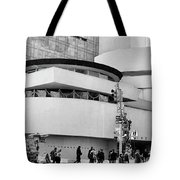Guggenheim Museum Nyc Bw Tote Bag