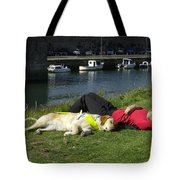 Guide Dog Relaxing Tote Bag
