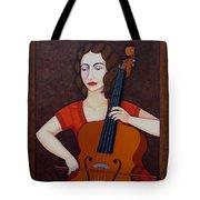 Guilhermina Suggia - Woman Cellist Of Fire Tote Bag