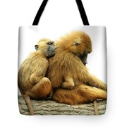 Guinea Baboons Tote Bag