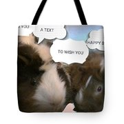 Guinea Pig Love And Bday Wishes Tote Bag