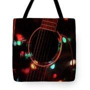 Guitar And Lights Tote Bag