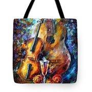 Guitar And Violin Tote Bag