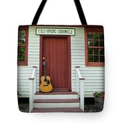 Guitar At Cold Spring Chronicle Tote Bag